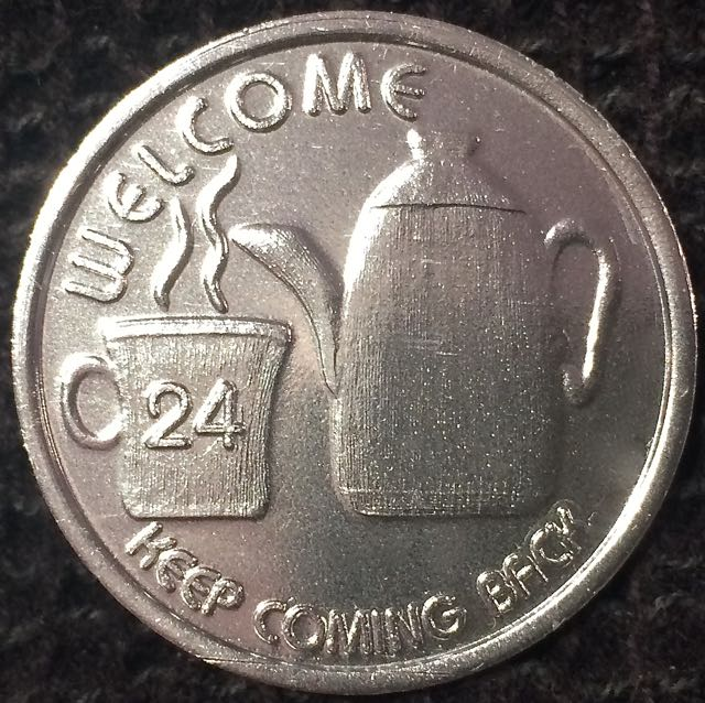 Welcome, Keep Coming Back (Aluminium Coin)
