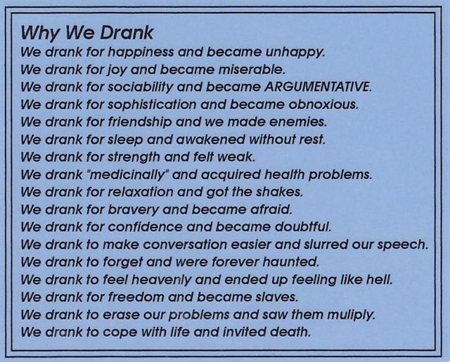 Why We Drank