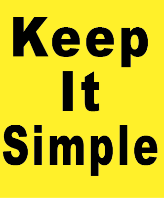 Yellow Keep it Simple Magnet